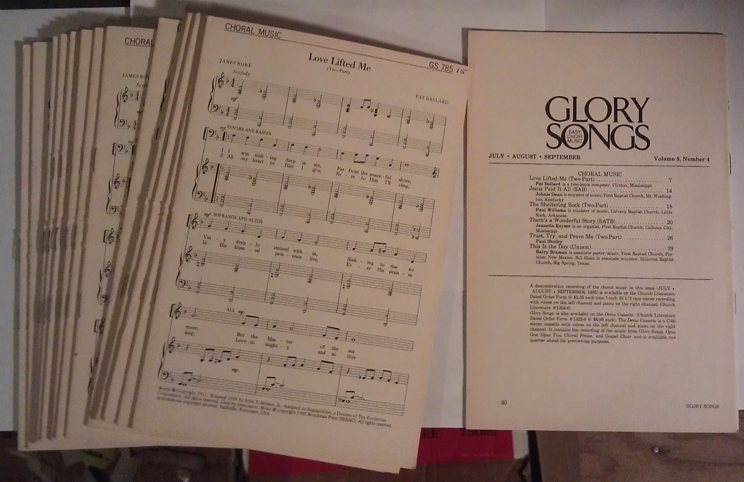 Image for Glory Songs: Easy Choir Music (17 copies) Vol. 5, Number 4