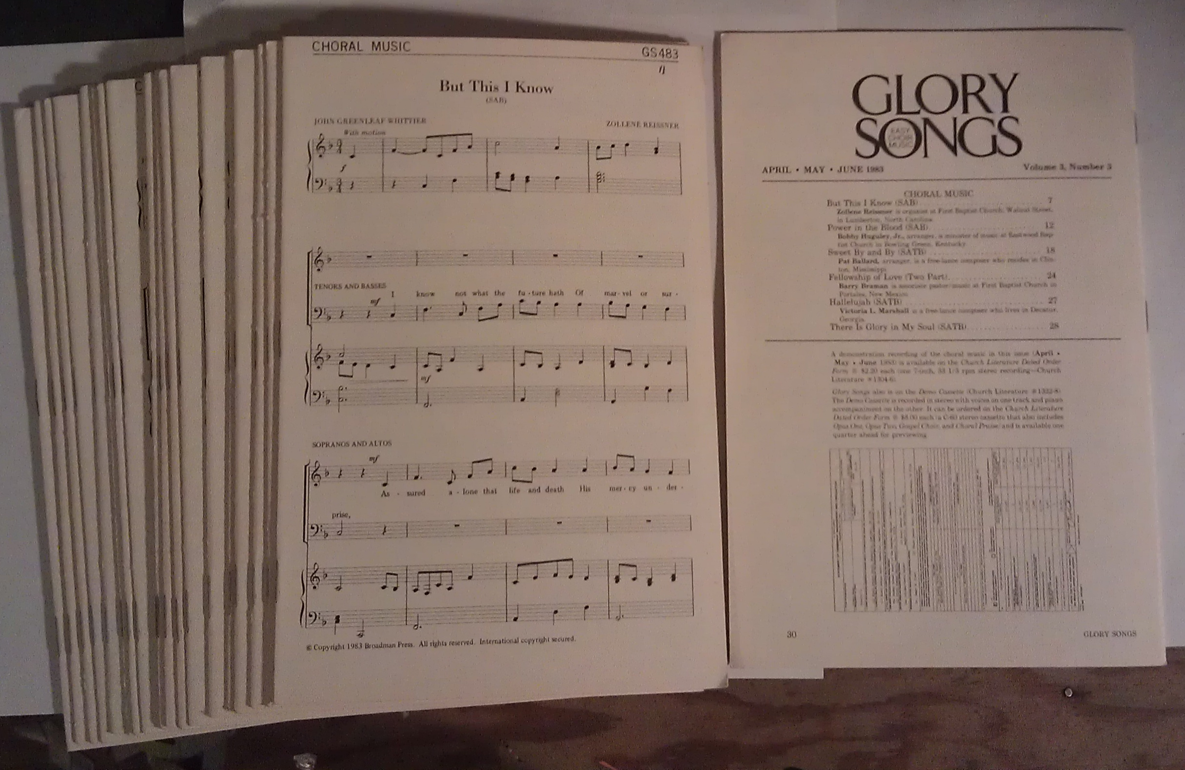 Image for Glory Songs: Easy Choir Music (20 copies