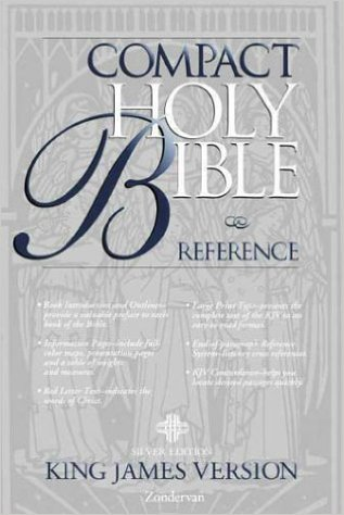 Image for KJV Holy Bible Compact Reference, Silver Edition Button Flap