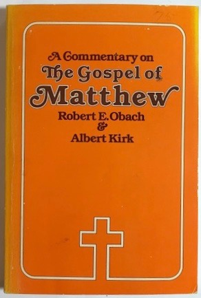 Image for A Commentary on The Gospel of Matthew