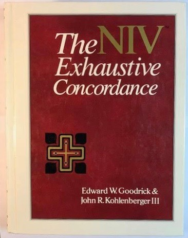 Image for The NIV Exhaustive Concordance