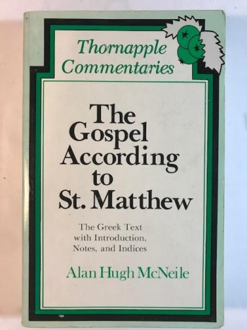Image for Gospel According to St. Matthew: The Greek Text with Introduction, Notes, and Indices