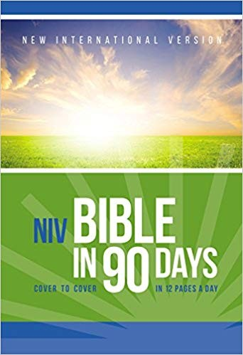 Image for NIV, Bible in 90 Days, Paperback: Cover to Cover in 12 Pages a Day