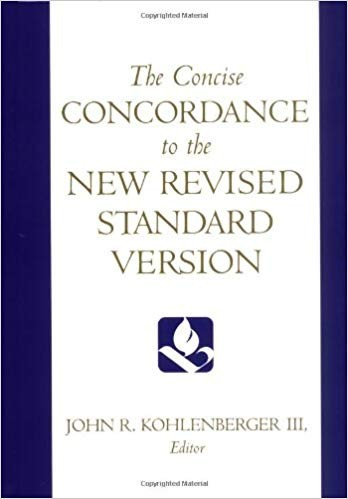 Image for The Concise Concordance To The New Revised Standard Virsion