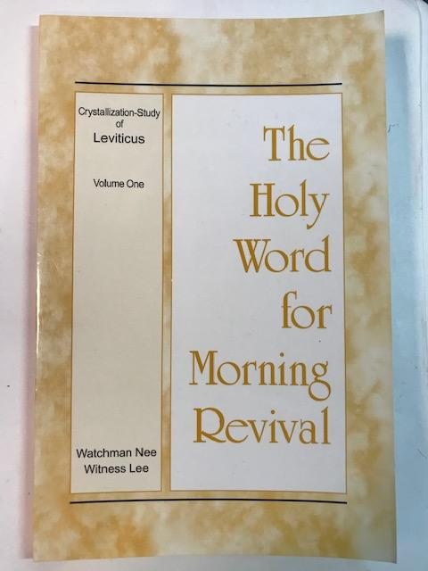 Image for The Holy Word For Morning Revival:  Crystallization-Study of Leviticus   (Volume One)
