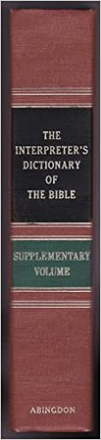 Image for The Interpreter's Dictionary of the Bible, Supplementary Volume