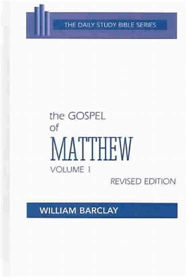 Image for The Gospel of Matthew: Chapters 1 to 10 (Daily Study Bible) Volume 1